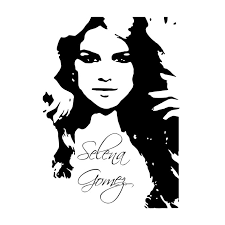 Selena Gomez Graphics Design Svg Dxf Eps By Vectordesign On Zibbet