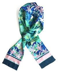 Myrtle - Long skinny silk scarf - Things are Electric