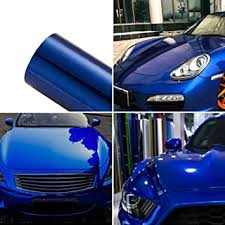 Amazon Com Atmomo Blue Car Wrap Vinyl Film Colorful Diy Car Body Films Vinyl Car Wrap Sticker Decal Film Air Release Film 1 52mx30cm Automotive