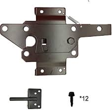 Amazon Com Fpz Heavy Duty Automatic Gate Latch Fence Gate Latch Mounting Hardware Gate Latch Post Mount Automatic Gravity Lever Wood Sturdy And Well Designed Two Sided Gate Latch Gate Latch To Secure Pool Home Improvement