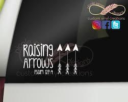 Raising Arrows Window Decal Etsy