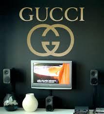 Gucci Logo Decorative Vinyl Wall Sticker Decal Vinyl Wall Stickers Wall Sticker Wall Stickers