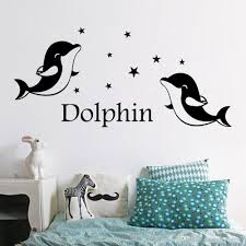 Cute Dolphin Wall Art Decal Sticker Kids Room Nursery Wall Decoration Decal Bedroom Wall Mural Poster Decor Wall Decor Sticker Wall Decor Stickers From Magicforwall 1 68 Dhgate Com