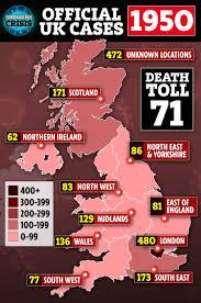 Coronavirus UK map – how many cases of ...