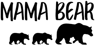 Amazon Com Mama Bear With Cubs Nok Decal Vinyl Sticker Cars Trucks Vans Walls Laptop Black 7 5 X 3 5 In Nok175 Kitchen Dining