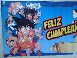 Dragon Ball Z Goku 1 Lona Feliz Cumpleanos 100 X 50 Cms 95 00