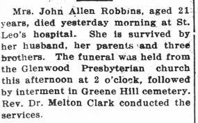 Ada Bowman Robbins Death & Funeral Notice - Newspapers.com