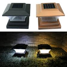 Lo Solar Fence Lamp Landscape Light Garden Post Cap Lamp Outdoor Waterproof Path Deck Square Decor Night Lamp Lazada Ph