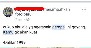ngakak status status netizen soal gempa ini justru lucu dan baper