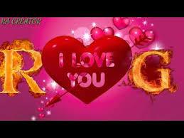 r love g whatsapp status r letter g