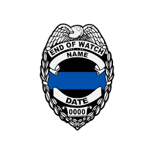 Custom Made Police Badge Memorial Reflective Decal Sticker End Etsy