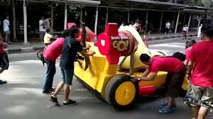 Real life Angry Birds Go! karts (Chuck and Red bird) are pretty ...