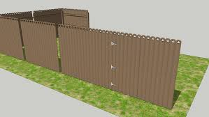 Low File Size Modular Privacy Fence 3d Warehouse