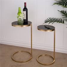 glitzhome accent table deluxe metal