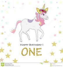 Primer Cumpleanos Uno Invitacion De Unicorn Birthday Tarjeta De