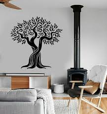 Vinyl Wall Decal Olive Tree Nature Leaves Branches Stickers 3482ig Ebay