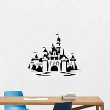 Amazon Com Disneyland Wall Decal Disney Castle Magic Kingdom Fairy Home Bedroom Vinyl Sticker Cartoons Movie Lettering Boy Baby Kids Wall Art Nursery Decor Mural 241ps Home Kitchen
