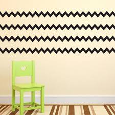 Pack Of 4 Chevron Pattern Stripes Wall Art Decal 8 X 36 Bedroo Imprinted Designs