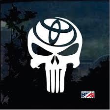 Punisher Skull Toyota Trd Truck Decal Sticker A2 Custom Sticker Shop Truck Decals Toyota Trd