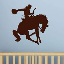 Amazon Com Western Rider Riding Horse Wall Stickers Kids Room Vinyl Removable Home Decor Bedroom Wall Decals 59x63cm Home Kitchen