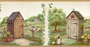 country meadows outhouse wallpaper