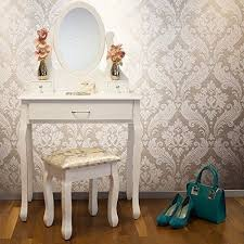 shabby chic dressing table set white