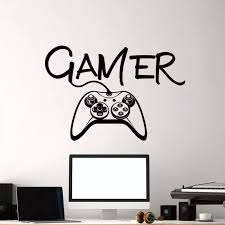Video Game Wall Decals Video Game Controller Wall Mural Boys Room Kids Playstation Decor Gamer Vinyl Wall Art Sticker Ay1268 Wall Stickers Aliexpress