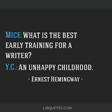 mice what is the best early training for a writer y c an
