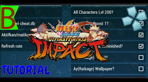 Naruto impact ppsspp cheat engine