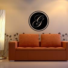 Edwardian Style Letter G Monogram On The Circle Wall Decal