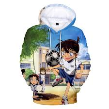 New 3D Anime Hip hop Detective Conan Edogawa Case Closed Hoodies ...
