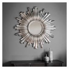 silver sunburst mirror 107cm