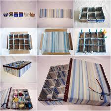 diy cardboard storage box with dividers