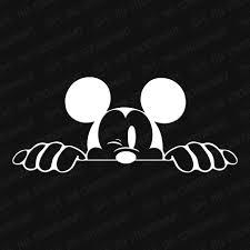 Mickey Mouse Head Winking Peekaboo Vinyl Decal Mickey Mouse Head Peekaboo Mickey Mouse Images