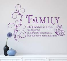 family tree butterfly wall art sticker wall decals quotes mural