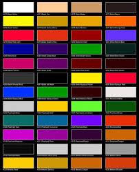 car paint colors paint charts