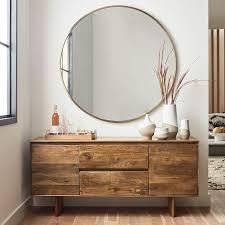 metal frame oversized 48 round mirror