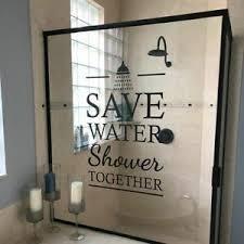 Save Water Shower Together Vinyl Glass Wall Sticker Bathroom Decor Words Decal Ebay