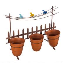 Shop Picket Fence Wall Decor Planter Overstock 30648748