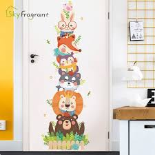 Creative Cute Cartoon Wall Sticker Baby Bedroom Wall Decor Home Decor Stickers Kids Room Decoration Door Stickers Self Adhesive Wall Stickers Aliexpress