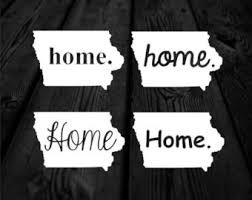 Iowa Home Sticker Etsy