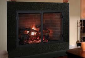 glass fireplace doors amarillo patio