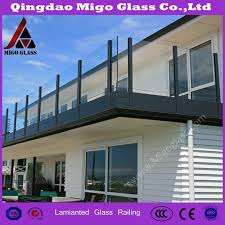 China Factory Supplier Building Safety Parapet Balcony Railing Pool Fence Design Tempered Laminated Glass China Frameless Glass Railing Safety Glass Fencing
