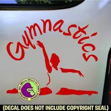 Gymnastics Gymnast Vinyl Decal Sticker Gorilla Decals
