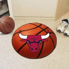 chicago bulls area rug nylon