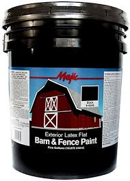 Amazon Com Majic Paints 8 0048 5 Latex Flat Barn Fence Paint 5 Gallons Black Garden Outdoor