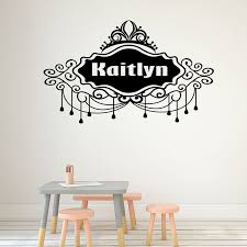 Personalised Name Monogram Wall Stickers Girls Kid S Name Wall Art Decal Nursery Vinyl Art Decal Child S Room Wall Decor G38 Wall Stickers Aliexpress