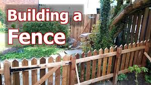 Building 2 Fences A 6ft Double Boarded Paling A 3ft Picket Fence Youtube