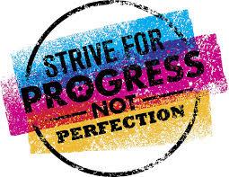 Amazon Com Strive For Progress Not Perfection Splatter Stamp Icon Vinyl Sticker 2 Wide Automotive
