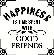 Happiness Is Good Friends Wall Sticker Vinyl Decal The Wall Works
